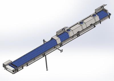 Waffeltransport mit Kühlhauben