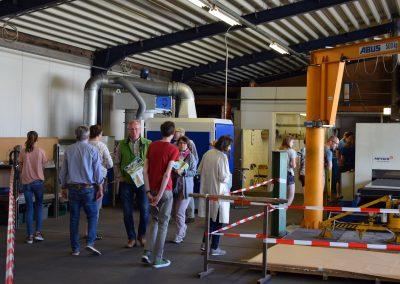 Besucher der Gewerbeschau in Weske 2018