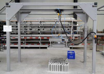 Halbautomatisches Portal mit Druckluftkettenzug, ATEX