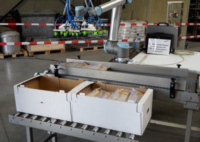 Kollaborierender Roboter mit mechanischem Vakuumsauger