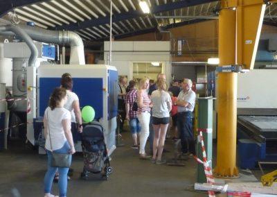 Besucher Schleifmaschine Gewerbeschau