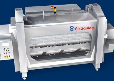 Wir fertigen Einlaufbänder für Air Liquide Zip Roll Froster