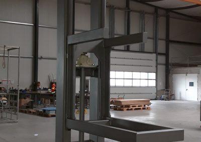 Hubststation mit mechanischer Verstellung für 500 kg Traglast